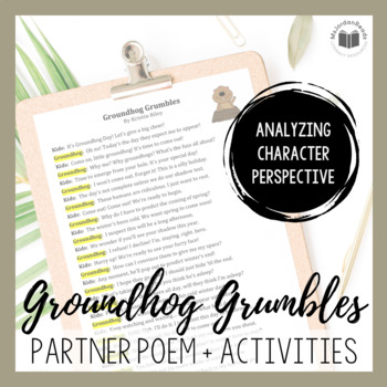 """""""Groundhog Grumbles"""" {A Seasonal Partner Poem}"""