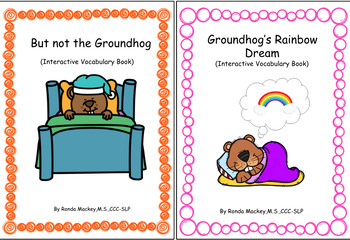 Groundhog Interactive Adapted Books (Preschool, Speech Therapy, Autism)