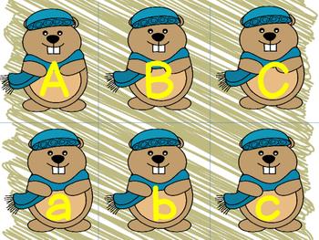Alphabet Match Center Groundhog Day