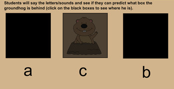 Groundhog Letters and Sounds