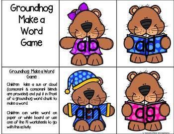 Groundhog Literacy Centers