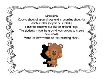 Groundhog Making Words