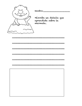 Groundhog/ Marmota Writing Prompt