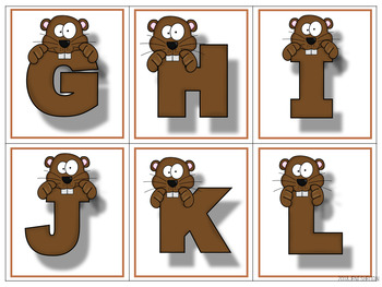 Groundhog Matching Activities for Toddlers, Preschool, and PreK