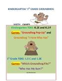 Groundhog Math Activities for Kindergarten and 1st Grade