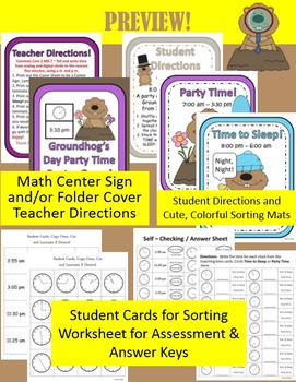 Groundhog Day Math and Literacy Center Games Bundle