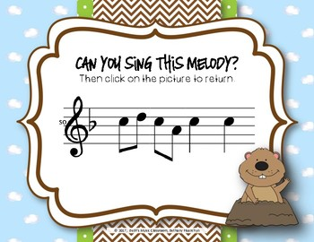 Groundhog Melodies! Interactive Melodic Game - Practice So Mi La