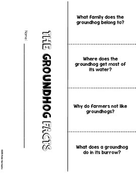 {Groundhog} Informational Reading & Text Dependent Questions