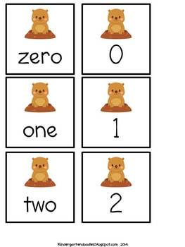 Groundhog Number Games & Write the Room