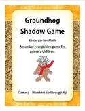 Groundhog Number Recognition 3 - Kindergarten Math