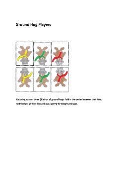 Groundhog Number Recognition 4 - Kindergarten Math