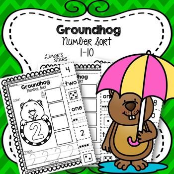 Groundhog Number Sort 1-10