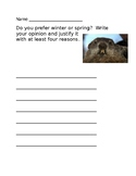 Groundhog Opinion Writing