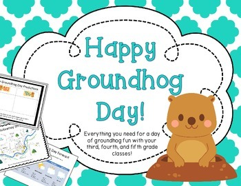 Groundhog Day Pack: A day of Groundhog Fun for 3rd, 4th, & 5th grades