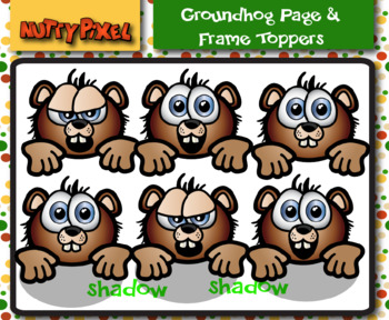 Groundhog Page & Frame Topper - Clipart