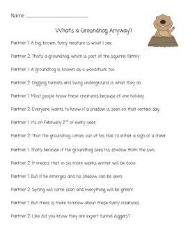 Groundhog Partner Poem