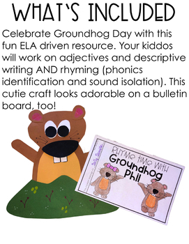 Groundhog Day - Reading, Writing, Adjectives and Rhyme