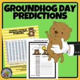 Groundhog Prediction & Fun Facts Presentation  Activities