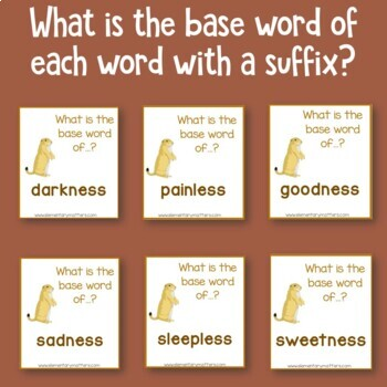 Groundhog Day - Prefixes and Suffixes