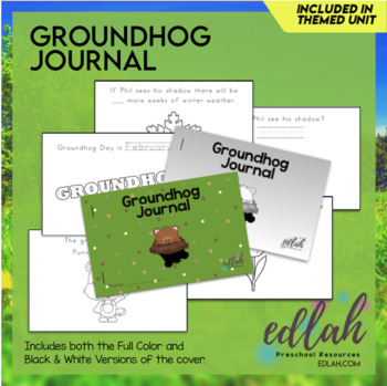 Groundhog Printable Journal