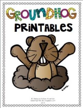 Groundhog Printables!