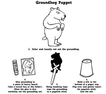 Groundhog Puppet