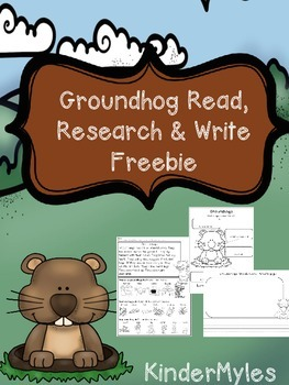 Groundhog Read, Research & Write {Freebie}