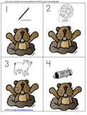 Groundhog Read the Room CVC Word Acitivity with recording sheet