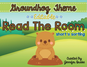 Groundhog Read the Room **EDITABLE**