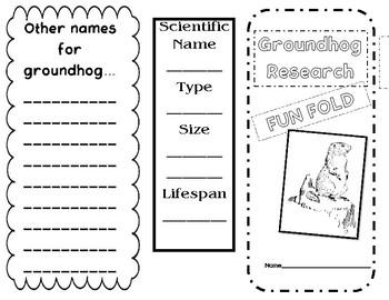 Groundhog Research Fun Fold