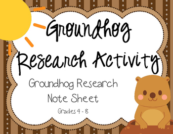 Groundhog Day Animal Research Activity