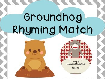 Groundhog Rhyming Match