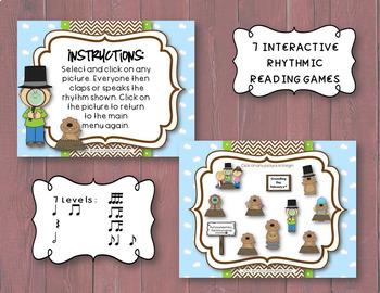 Groundhog Rhythms! An Interactive Rhythm Game BUNDLE - 7 GAMES!
