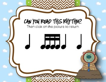 Groundhog Rhythms! An Interactive Rhythm Game - Practice Tika-tika