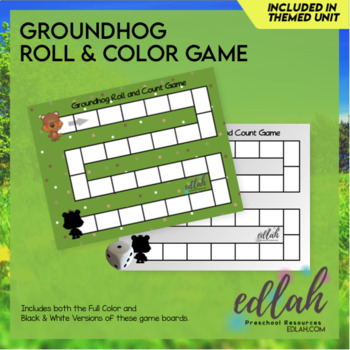 Groundhog Roll and Count Game