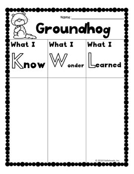 Groundhog Science Activities With Close Read, Interactive Booklet, Organizers