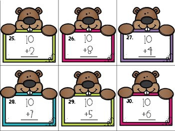 Groundhog Scoot {Adding Tens}