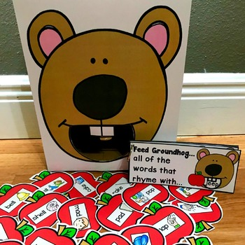 "Groundhog Sensory Bin Activities:  ""Feed Groundhog"""