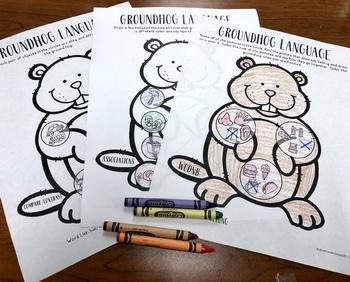 Groundhog Shadow Speech Therapy Craft Bundle