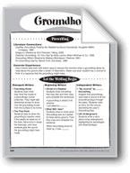 Groundhog Shape Book
