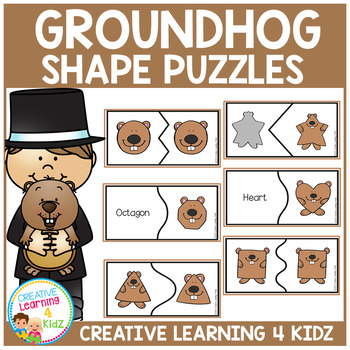 Groundhog Shape Puzzles