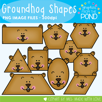 Groundhog Shapes Clipart