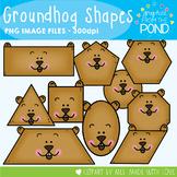 Groundhog Shapes Clipart