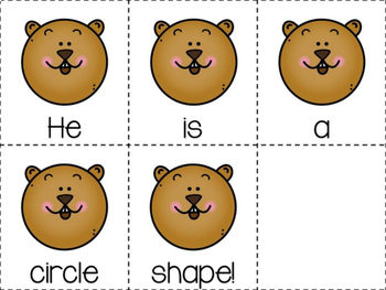 Groundhog Shapes Emergent Reader & Centers