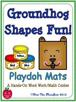 Groundhog Shapes Fun! Playdoh Activity Pack