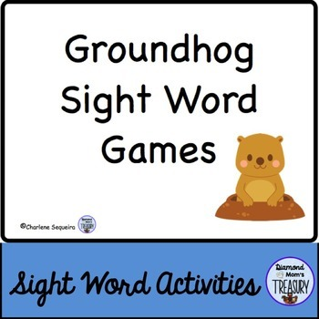 Groundhog Sight Word Games
