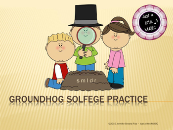Groundhog Solfege Reading Practice {re}