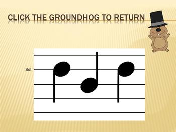 Groundhog Solfege Reading Practice {sol and mi}