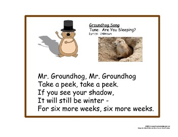 Groundhog Song for PreK-2
