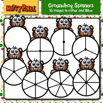 Groundhog Spinners - Clipart